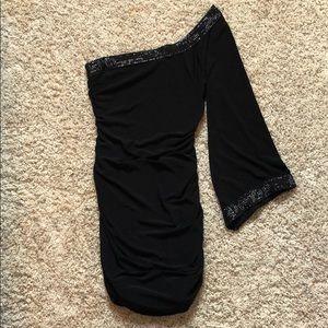 Black stretch dress